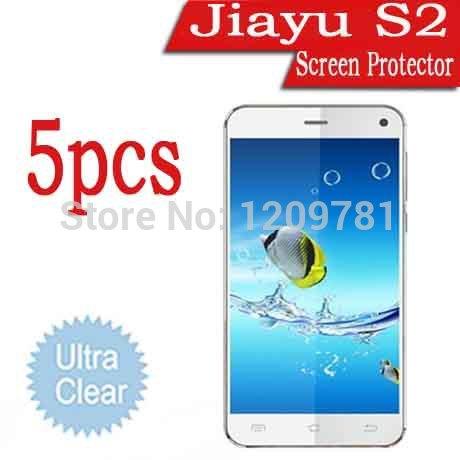 5 pcs ultra- claro telefone celular protetor de tela para jiayu s 2, venda jiayu s2 lcd guarda película protetora caso capa. jiayu g2f g2s g4(China (Mainland))