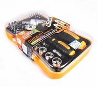JM-6102 43 in 1 Multifunction Rachet Socket Screwdriver Kit w/ Sockets + Bits E3114 Free Shipping