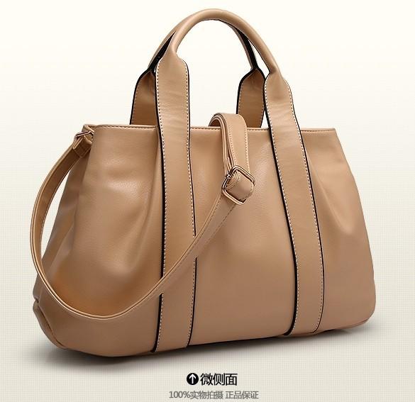 New 2014 women genuine leather bag fashion women handbag animal natural skin women messenger bag(China (Mainland))