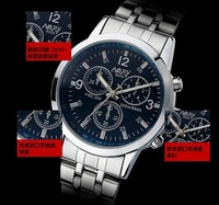 free shipping high quality stainless steel men sports waterproof wristwatch women popular casual metal watch