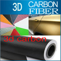 "24"" x 60""  152CM * 60CM  3D Carbon Fiber Film Vinyl Car Sticker Carbon Fiber Sheet 10 Colors"
