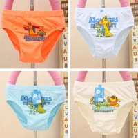 FreeShipping,12pcs/lot,KD-007-50,High quality boys underwearwith multi color,waistline:24cm,for 2-4years