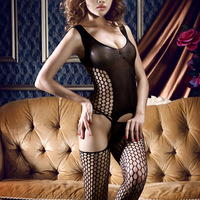 Ladies Sexy Fishnet Lingerie Suit Intimate Crotchless Body Stocking Teddy