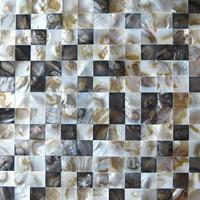 Home decor mosaic mother of pearl tile kitchen backsplash tiles black white shell yellow luster shower bathroom wall mirror tile