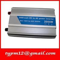 Modified Sine Wave USB Mobile Car Inverter DC12V to AC220V auto inverter 2000W+free shipping
