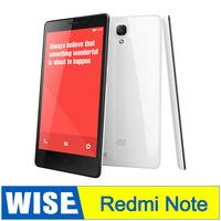 Free Shipping Xiaomi Hongmi Redmi Note Mobile Phone 5.5inch Screen WCDMA Octa Core MTK6592 1280* 720 2GB RAM 8GB In Stock /Ammy