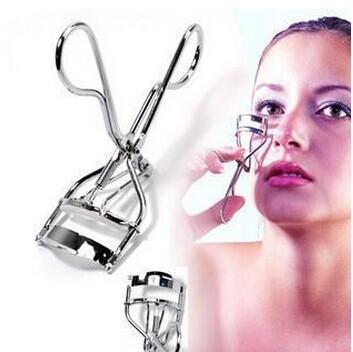 Free Shipping 1 Piece New Silver Metal Aluminium Eyelash Curler Lifts Lashes Eyes Makeup(China (Mainland))