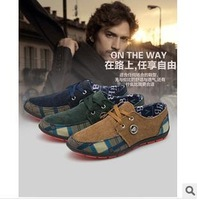 new 2014 fashion light breathable leather shoes men's oxfords casual Loafers, sneakers for men flats shoes 6.5-10 size