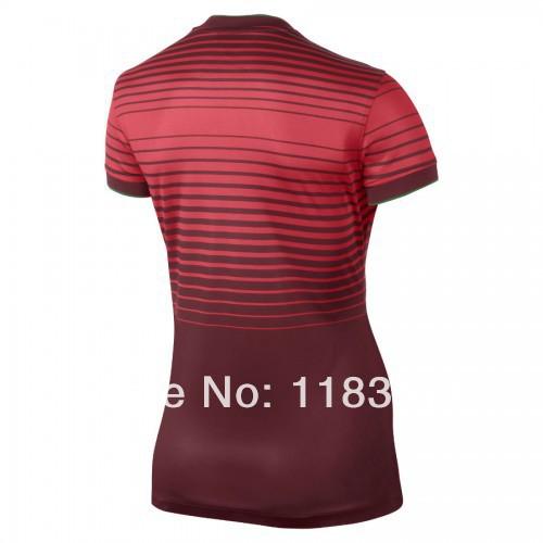 mulheres 2014 futebol jersey portugal camisa de futebol, portugal portuguÊs senhoras ronaldo futebol jersey maillot de pé(China (Mainland))