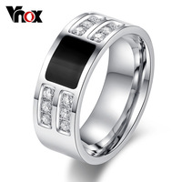 Men's ring Jewelry wholesale Stainless Steel Beauty Crystal  Mens Ring