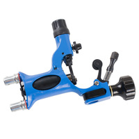 6 Colors X-888 Pro Dragonfly Rotary Tattoo Machine Gun Shader & Liner Tattoo Machine Kits Free Grip Needles Blue Color