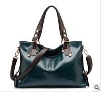 2014 summer fashion luxury genuine leather women travel bags fashion rivet designer ladies soft leather party handbags