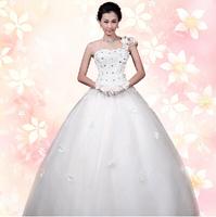 Explosion models 2014 new bride shoulder lace wedding dress Princess Korean Qi Bra