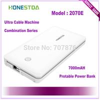 HONESTDA Ultra Cable Mashine Combination Series 2070E 7000mah Protable  Fashion Power Bank Free Shipping