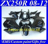 Wholesale - Top-selling Fairing kit for KAWASAKI Ninja ZX250R 08 12 ZX 250R 2008 2012 EX250 ZX 250 R 08 09 10 11 12 all gloss bl