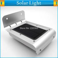 Solar Sensitive Motion Sensor Power Panel 16 LED Illumination Fence Gutter Light for Outdoor Yard Garden Wall Lobby Pathway Lamp