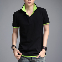 2014 Summer New Arrival Fashion Double Collar T-shirt Men Multi Colors Trendy Design Short-sleeved Men's T Shirt Shirts