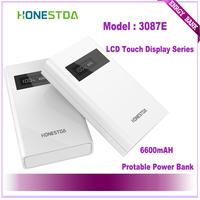 HONESTDA LCD Touch Display 3087E 6600mah Protable  Fashion Power Bank Free Shipping