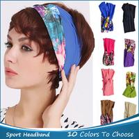 1 PC Yoga Dance Wide Headband Hood Stretch Ribbon Elastic Hairband Sport Headband Hair Accessories Candy Color Free Shipping