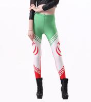 Sexy Punk New 2014 World Cup Legging Flag of Iran Digital Print Lady Fitness Leggins Women Fashion LEGGINGS For Female S106-452