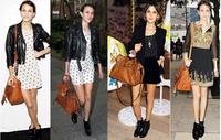 New 2014 celebrity Designer Handbags leather women's handbag vintage bag shoulder tote bags Hobo women messenger bag motorcycle