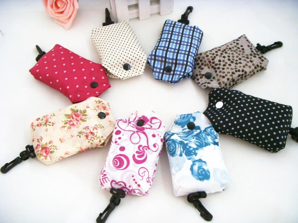 Free Shipping Fancy Print Mobile Phone Shopping Bag Food Market Folding Bag Girl Friends' Gift Bag 10PCS/LOT Wholesale(China (Mainland))