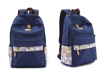 Casual  women  Floral  Canvas  Backpack   Fresh  Travel  Bag