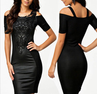 Free Shipping  2014 New Fashion Women's New sexy strapless dress embroidered fight skin skirt sexy package hip