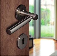 6pairs lot free shipping stainless steel modern door handle/handle/lever door handle/AISI 304