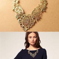 Fashion Retro Women's Lady Lace Metal Chain Necklace Choker Collar  Freeshipping&Wholesale
