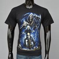 Moldbaby2014 High Quality, 100% Cotton T-shirt, 3D Skull Men Leisure Luminous T-shirt With Short Sleeves, Free shipping