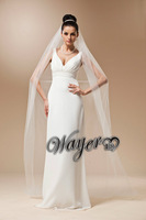 #V1424 Real Pictures Elegant White Bridal Veil Long Wedding Veils Free Shipping
