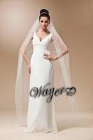 #V1424 Real Pictures Elegant White Bridal Veil Long Wedding Veils Free Shipping