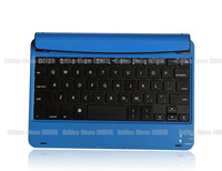 Blue High Quality Portable Aluminum wireless External bluetooth 3.0 keyboard Stand for ipad mini tablet PC
