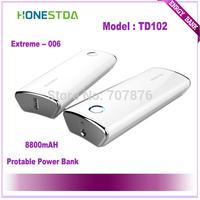 HONESTDA Extreme TD102 8800mah Protable  Fashion Power Bank Free Shipping