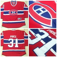 Kids Montreal Canadiens #31 Carey Price Red Home CH Youth Hockey Jersey Boys Goalies Fans Jerseys Ice Winter Sportswear Cheap