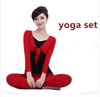 2014 Special Sportswear summer yoga set fitness dance clothing cgym clothes women yoga suit PLUS SIZE  patchwork tops + pants