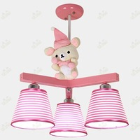 The princess room bear children bedroom lamp absorb dome light creative cartoon lamps and lanterns