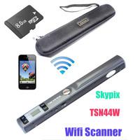 Free Shipping!Free 8GB+Hard Bag Skypix TSN44W Wireless Wifi Handheld A4 Document Photo Scanner