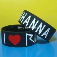I Love RIHANNA silicone wristband,free shipping