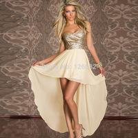 Summer Dress 2014 New hot sexy dress nightclub Slim was thin chiffon dress fashion sequined wrapped chest Winter Dress #
