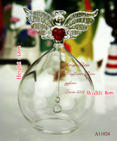 Hot sale Creative Crystal Praying Angel Wind Chimes Cute Glass Bottle Birthday Gift Birthday Gift Wedding Gift Free shipping