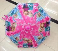 2pcs/lot Frozen Umbrella/baby boys girls Anna Elsa Sunny and Rainy Umbrella/kids princess long-handle umbrella,red & blue