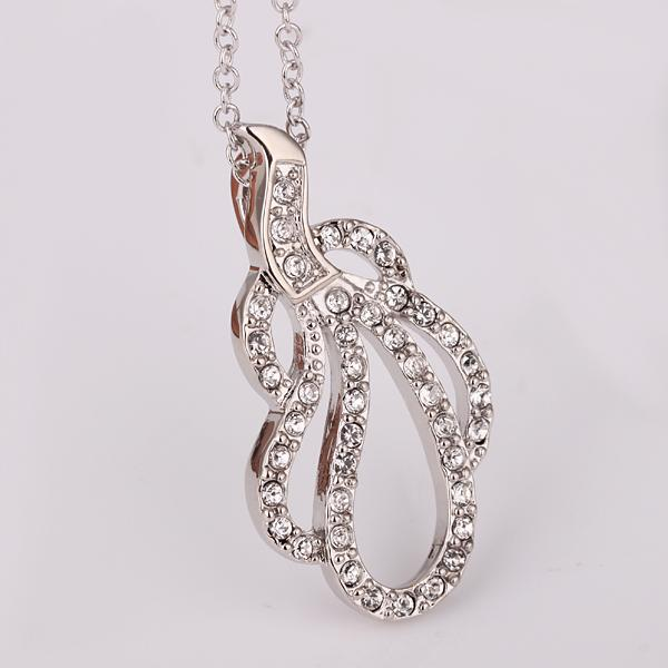 CJH 18K jewelry factory direct, free shipping, platinum necklace hanging insets Women's Health Fashion Jewelry(China (Mainland))