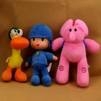 3pcs/set POCOYO Cartoon Stuffed Animals Plush Toys DOLL & Hobbies Elly & Pato & POCOYO plush soft kid toy DOLL
