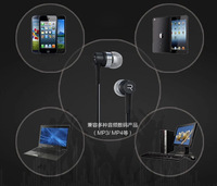 2014 Remax mobile phone music earphones note3 5s wire ear bass earplugs, headphones for tablet computer