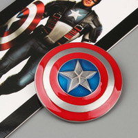 Free Shipping Marvel Superhero Captain America Shield Five-pointed Star Brooch For Man ANPD1292