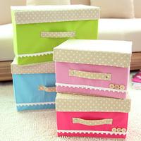 5935 Free shipping minimum order $10 (mixed items) New arrival folding storage box clothing toy box storage bin 7 colors