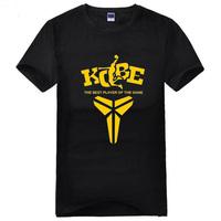 2014 summer popular sport the best player T Shirt cotton kobe famous t-shirt man top tee casual man short sleeve plus size
