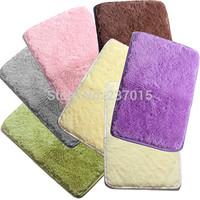 Free Shipping 23.6''X15.7'' Fluffy Carpet Bathroom Anti-slip Mat Door Floor Shaggy Rug Decor New